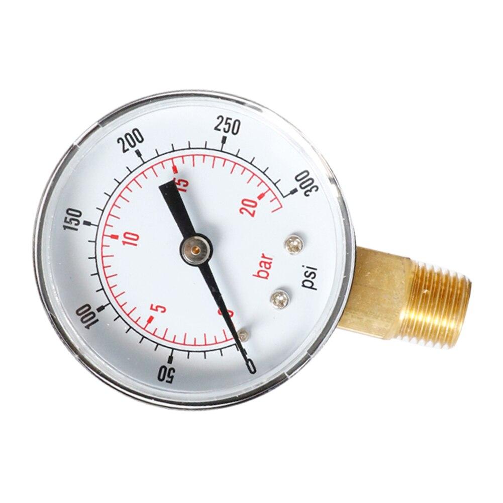1 комплект радиальный манометр 0-300psi 0-20bar циферблат пневматический гидравлический воздушный Давление датчик 1/8BSPT