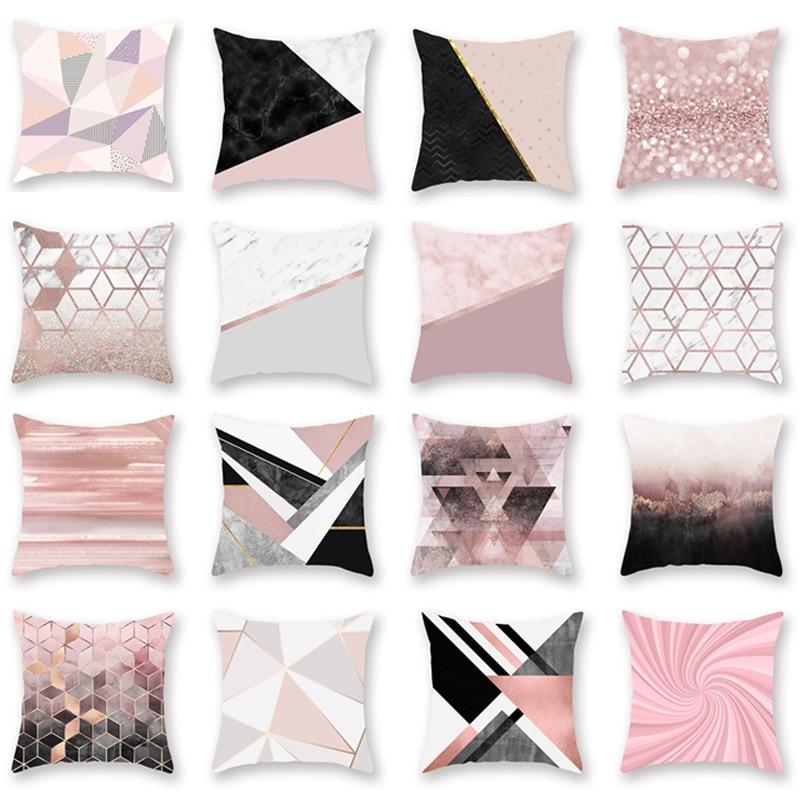 Home 45*45cm Pillowcases Nordic Style Cojines Peach Skin Velvet Pillow Covers Cushion Rose Gold Powder