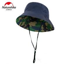Naturehike-Sombrero informal para hombre y mujer, gorra para sol para aire libre, viaje, bote, sombrero de cubo para playa, Camping, gorras para senderismo