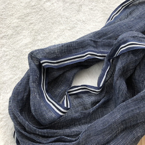Image 5 - 2020 New Style Spring And Summer Leisure Business Mens Linen Scarf Solid Color Clause Versatile Breathable Shawl