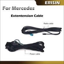 Erisin BZ6M Universele Extension Power Lead Kabel 6 Meter Extra Lood Voor Oem Mercedes Benz W211 W219 W215 W220 w463 Auto Radio