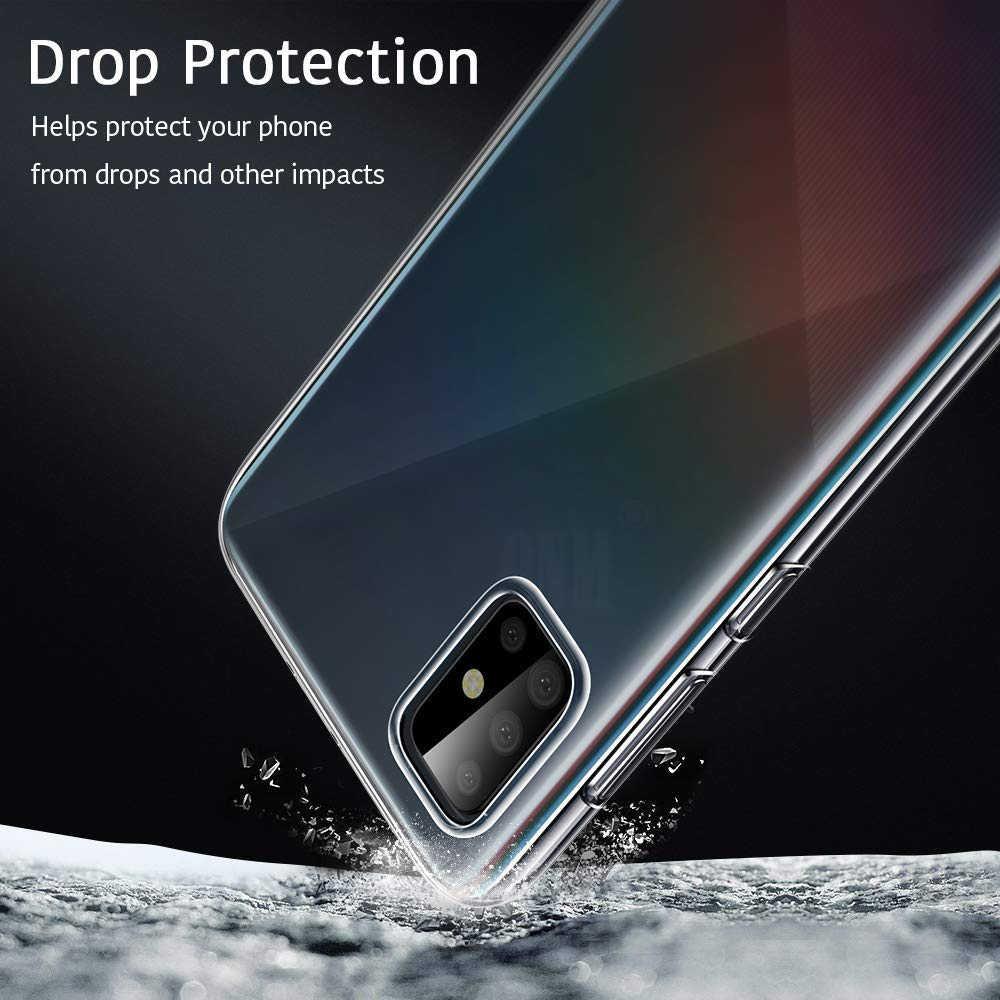 สำหรับ Samsung Galaxy A51 TPU ซิลิคอนติดตั้งกันชนสำหรับ Samsung Galaxy A51 A71 51 71 2019 ฝาครอบด้านหลัง