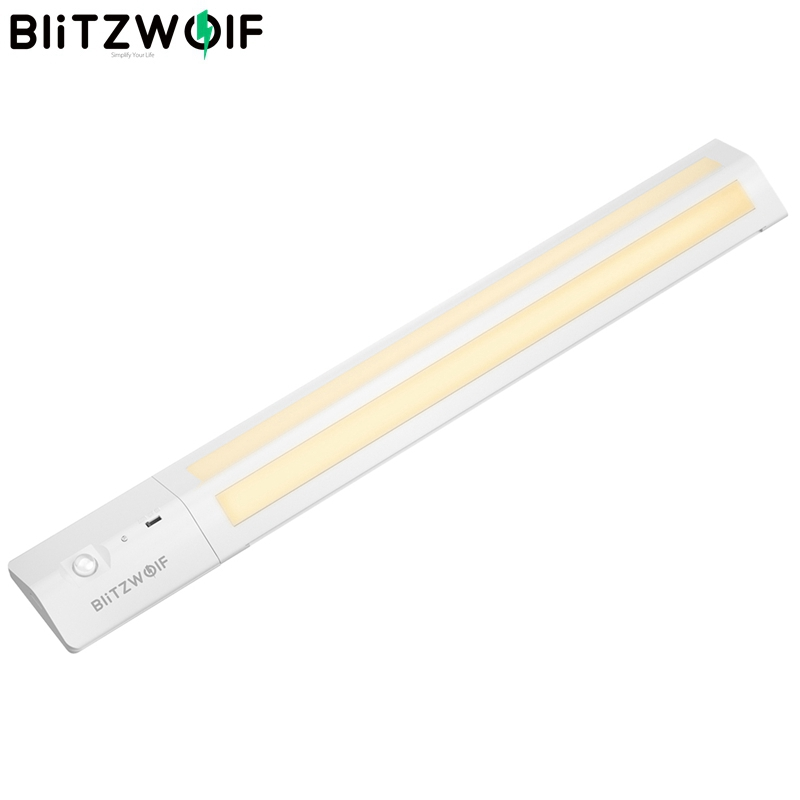 BlitzWolf BW-LT8 Motion Sensor LED Unter Kabinett Licht Abnehmbare Lithium-Batterie 3000K Farbe Temperatur Nacht Licht Warm Weiß