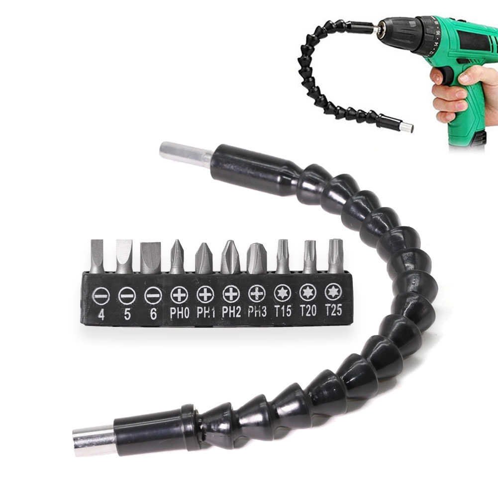 Electric Screwdriver Drill Multifunction Universal Flexible Shaft Bits Extension