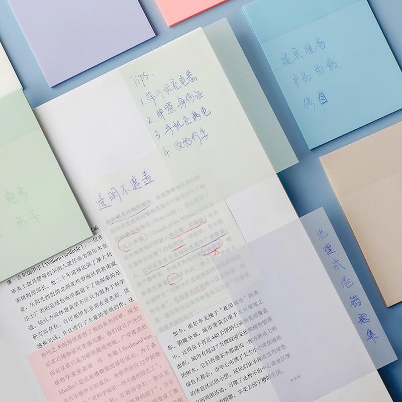 Новое поступление, прозрачная водонепроницаемая бумага для заметок Yisuremia для домашних животных, 50 листов, ежедневная бумага для заметок, бу...