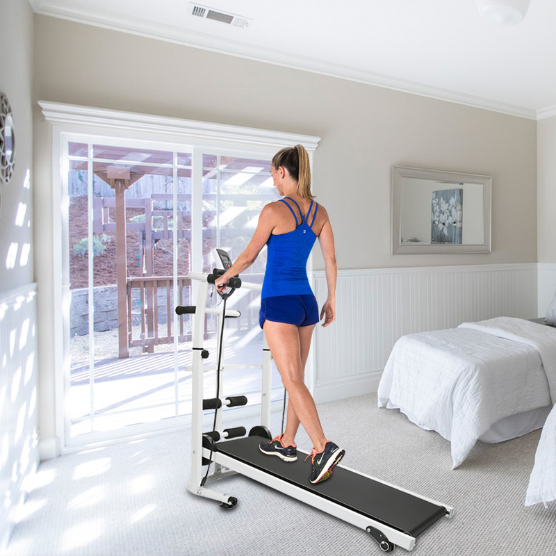 New Mechanical Treadmill Mini Folding Running Training Fitness Treadmill Multi-function Indoor Fitness Equipment Treadmill HWC