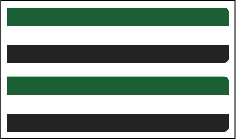 Длинная прямоугольная наклейка с флагом 2 шт. Экстрамара 80x2 0 мм/ud.
