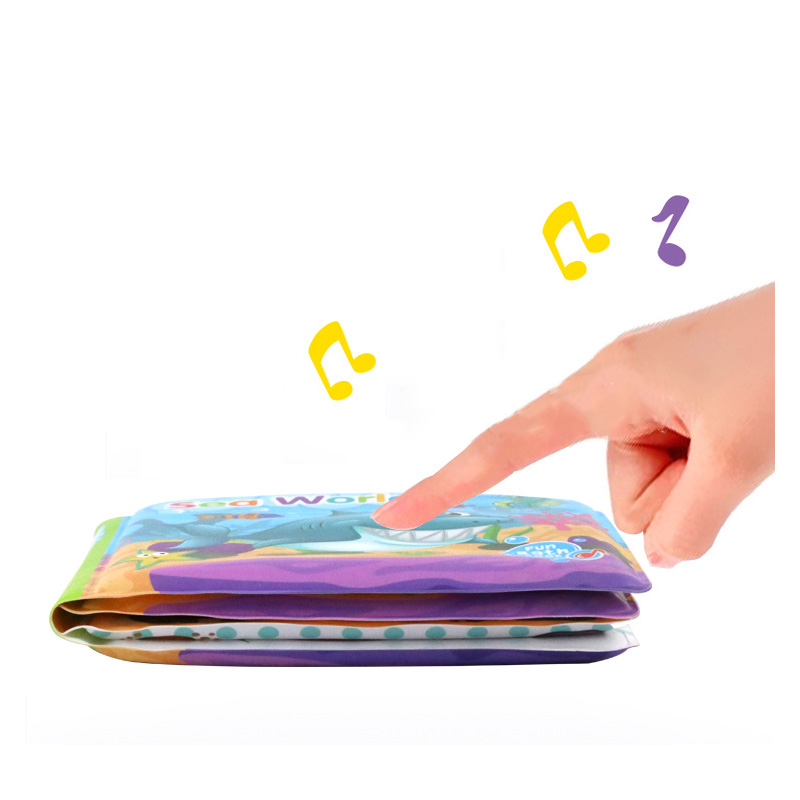 Baby Bath Books Kids Early Learning Cloth Books With BB Device EVA Floating Cognize Waterproof Book For Kids
