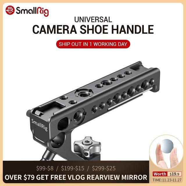 SmallRig Quick Release Camera uchwyt rękojeści buta może używać W/ SmallRig Z6 L płyta w/ ARRI lokalizowanie otwór DIY aparat stabilizator 2094