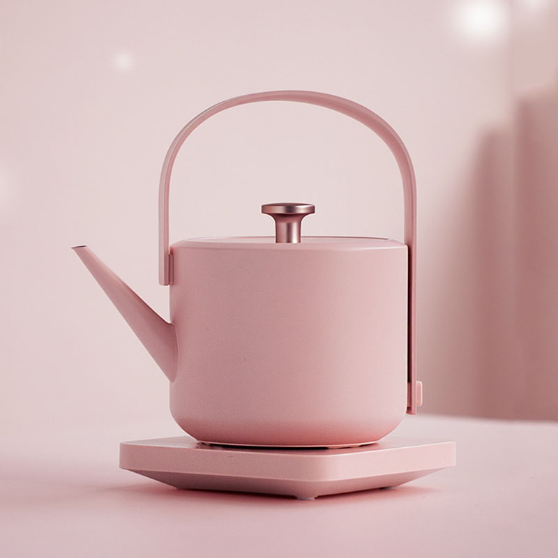 New XiaoTi Retro Electric Kettle 600ml Stainless Steel Household Commercial Electric Kettle 1200W Water Boiler Beautiful Teapot