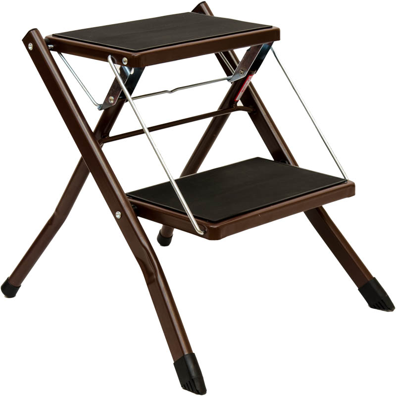 Ladder Home Indoor Two-step Small Ladder Non-slip Portable Fold Ing Ladder Herringbone Step Stool Ing Escalera Taburete Cheap