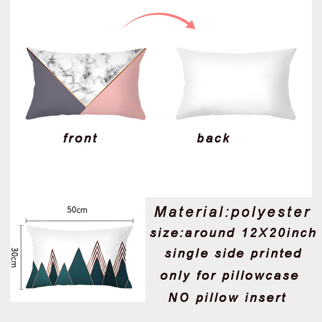 Geometric Patterned Rectangular Cushion Cover 2