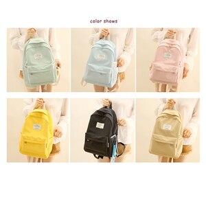 Image 5 - Nufangu design simples oxford coréia estilo feminino mochila moda meninas lazer saco escolar estudante livro adolescente viagem útil