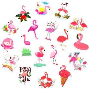 Image 3 - Наклейки с фламинго, 50 шт., наклейки с милыми мультяшными девушками и животными для Mac, наклейки для ноутбука, багажа, холодильника, гитары, ноутбука