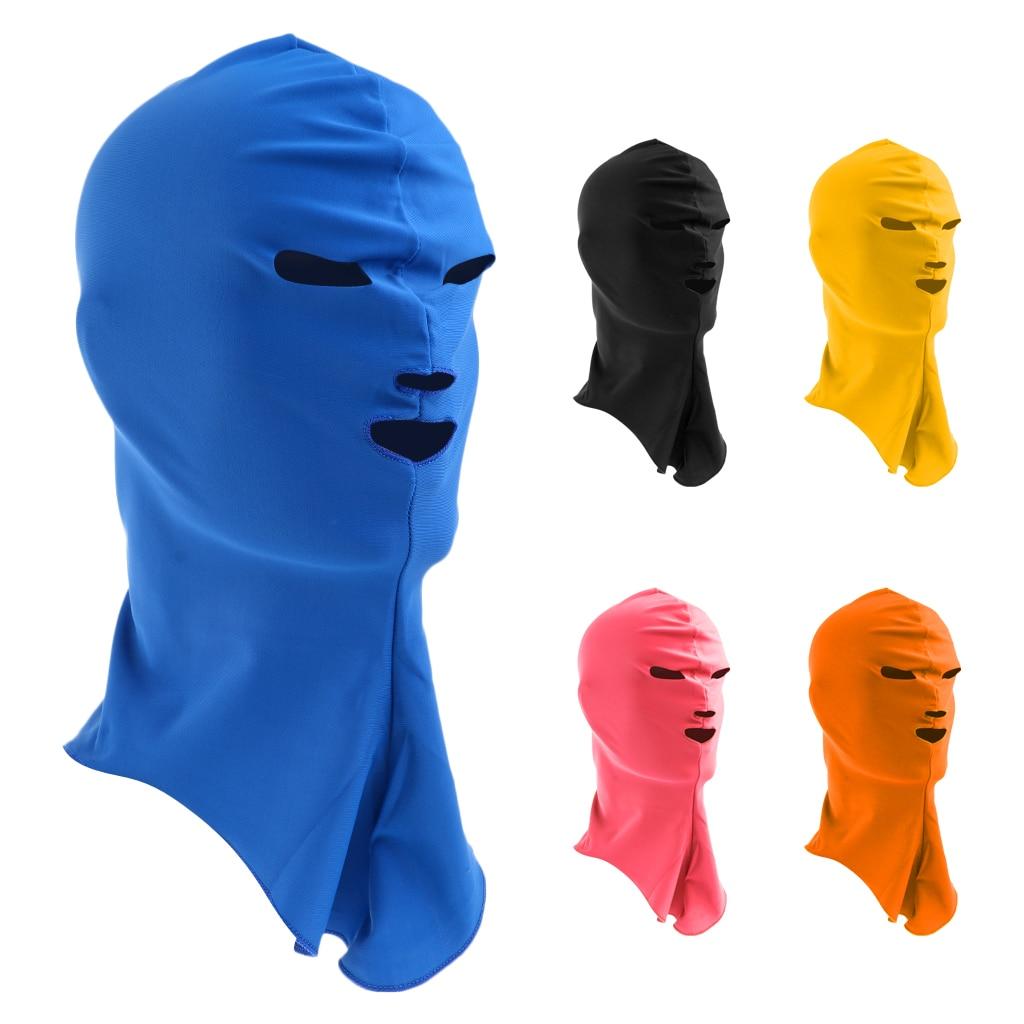 Lightweight Mask Sports Face UV Protection Full Face Mask Women/Men Head Cap Black/ Blue/Yellow/Pink/Orange