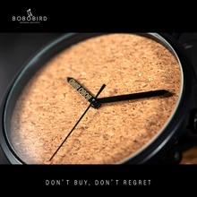 reloj hombre BOBO BIRD Wood Watch Watch Timepieces Japan Movement Quartz Wrist Watches Male Clock relogio masculino Dropshipping