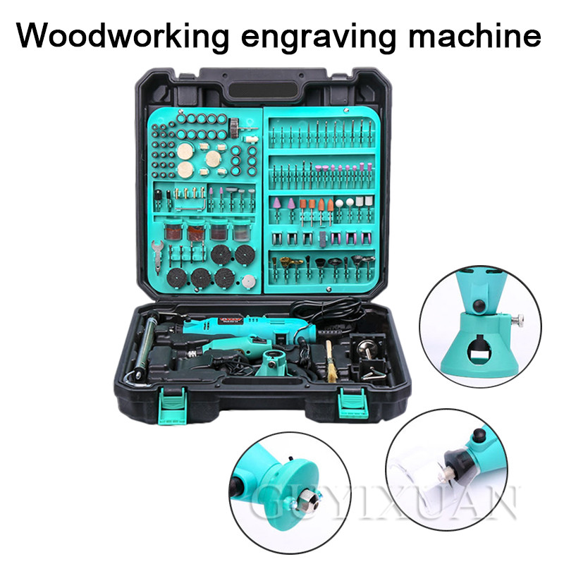 220V Hand-held Engraving Machine Small Electric Lettering Pen Jade Woodworking Metal Polishing Polishing Engraving Machine