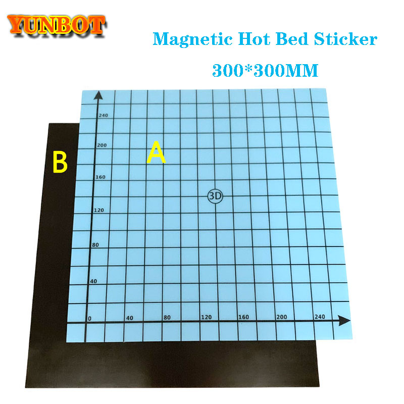 3D Printer Heat Hot Bed Sticker Square Print Build Plate Tape with Coordinate