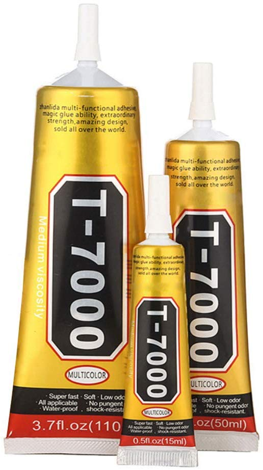 T7000 50ML Glues Multipurpose Adhesives Super Glues T-7000 Black Liquid Epoxy Glues For DIY Crafts Glass Phone Case Metal Fabric
