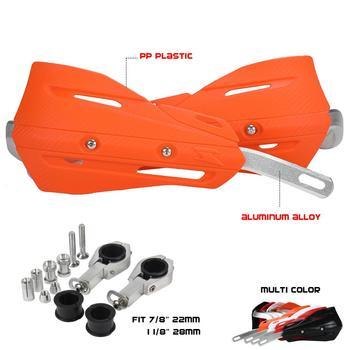 Nowa aluminiowa handguards straż ręczne dla KTM SX EXC XCF SXF XCW EXCF SMR Dirt Bike MX Motocross Supermoto OFF motocykla drogowego tanie i dobre opinie qxmotorracing CN (pochodzenie) QX-HD21-03 14cm 25cm Nylon and Polypropylene + Aluminum Alloy Falling ochrona 0 85kg 15cm