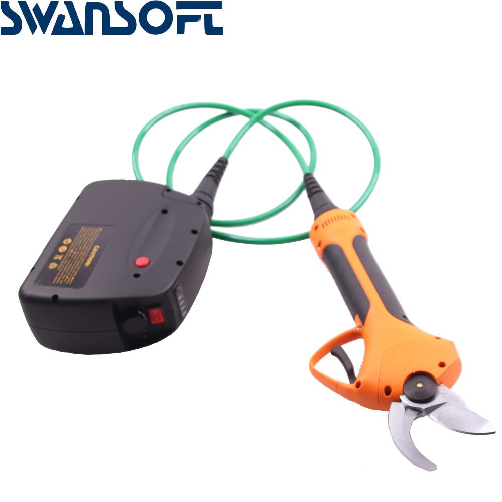 SWANSOFT WS-F35 Electric Pruning Shears Working Time 8-10h Lithium Battery Charging Scissors
