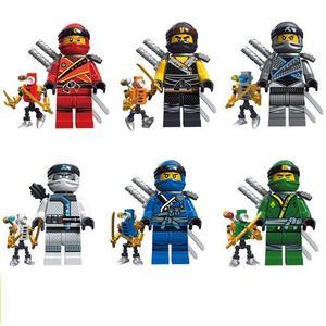 Figures 6pcs Kai Jay Cole Zane Llyod Titanium Zane Ninja Building Brick