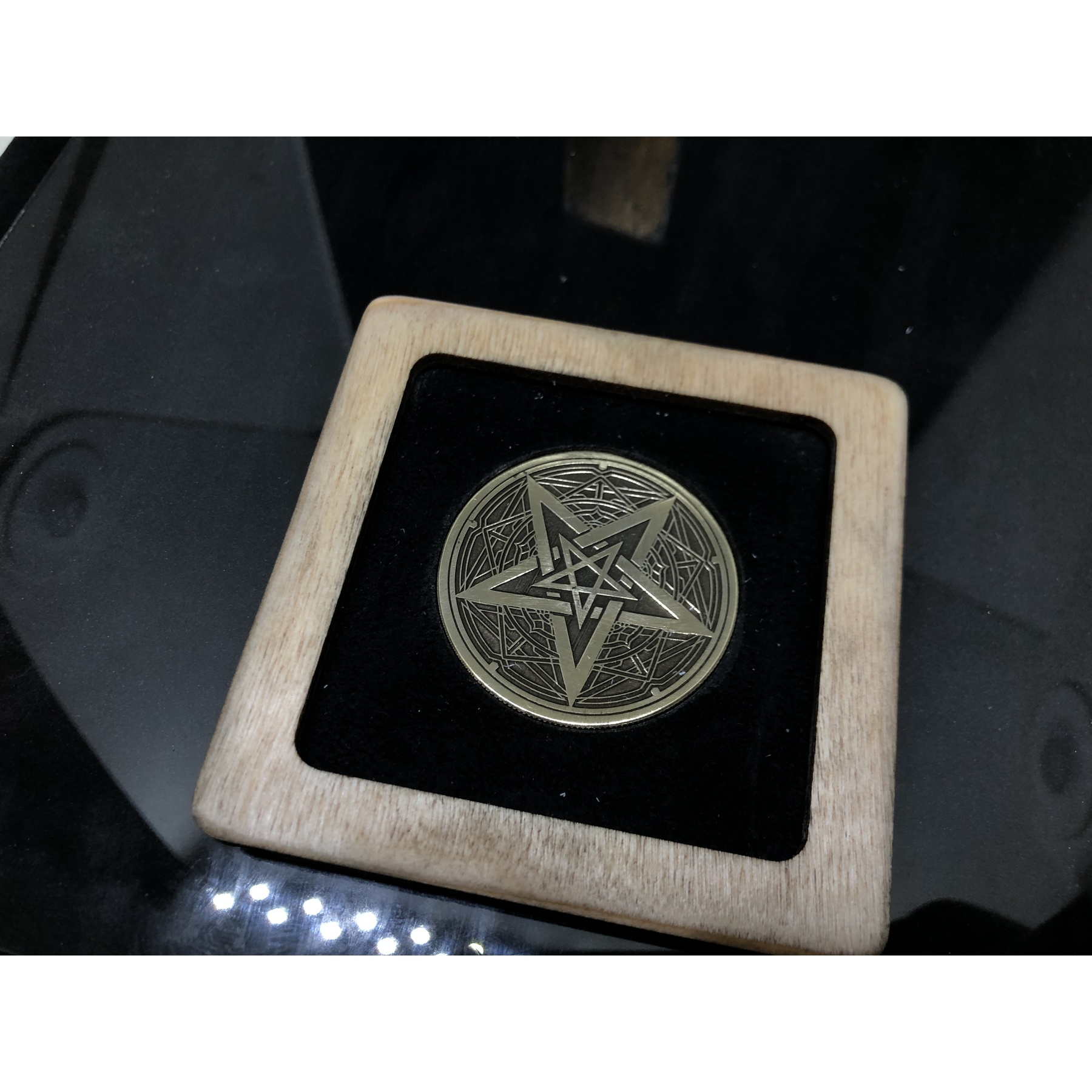 Collectible Coin Brass Engraved Baphomet
