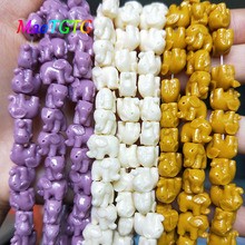 White/Yellow/Purple Elephant Coral Beads For Jewelry Making Necklace Bracelet 12mm Coral Spacer Beads Accessories Wholesale недорого