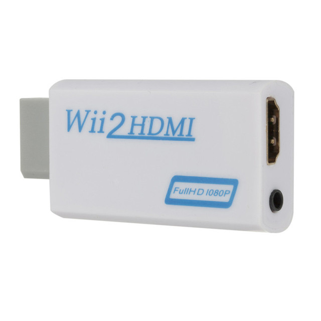 Full HD 1080P WII To HDMI Converter WII To HDMI Wii 2 HDMI Converter 3.5mm Audio for PC HDTV Monitor Display Wii To HDMI Adapter