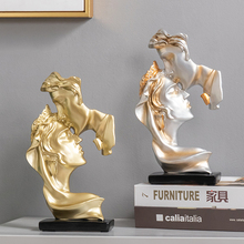 Nordic home living room decoration accessories Decorative Lovers statues home decor Kiss sculpture Valentine's Day wedding gift