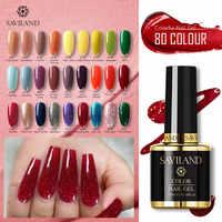 SAVILAND Gel Nail Polish Hybird 80 Colors UV Semi Permanent Primer Top Coat 10ML Gel Varnish Nail Art Manicure Nails Gel Lak