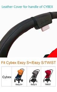 Image 2 - ベビーカーアクセサリー革保護ケースカバーをサイベックス eezy s + ツイストハンドルのベビーカー