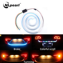 Nlpearl Car Light Assembly Led Strip 12V RGB Car Additional Stop Light Dynamic Streamer Trunk Tail Brake Lights Turn Signal Lamp(China)