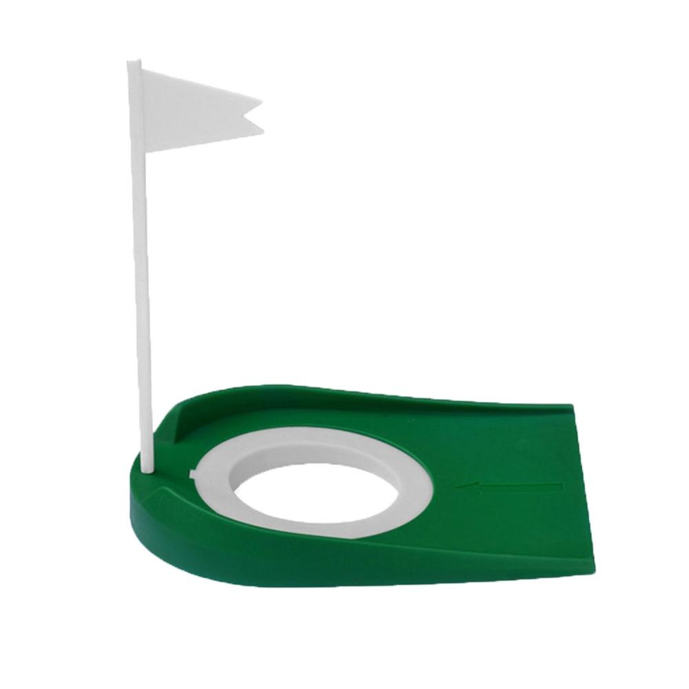 Indoor Golf Putting Cup With Hole Flag Return Ball Training Putter Practice Aids Drop Ship