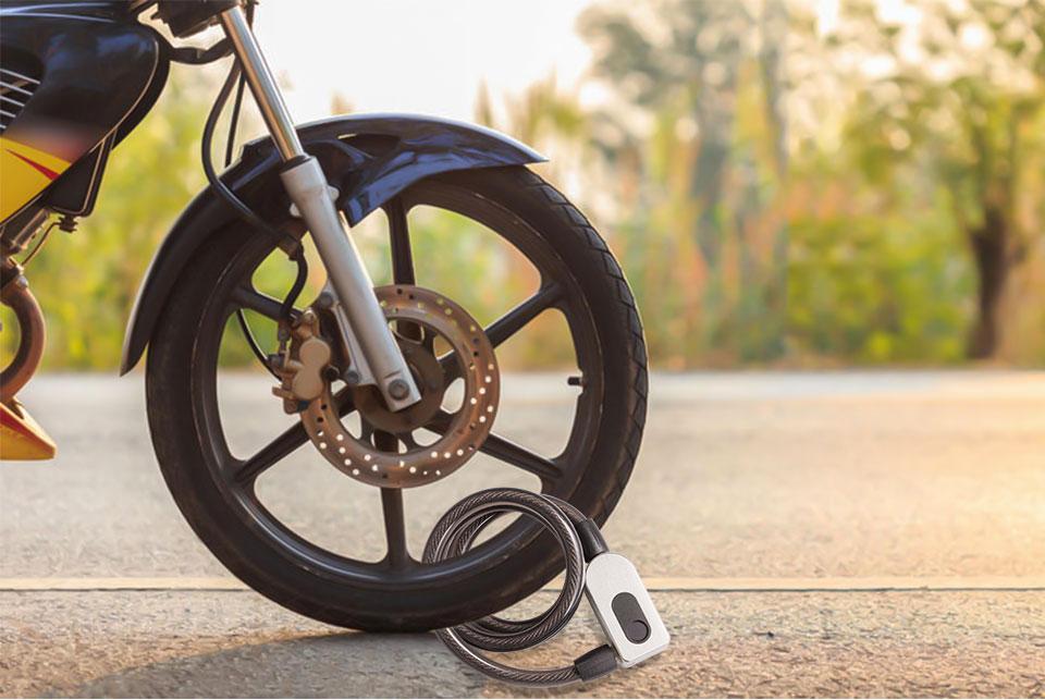 H1677e501893149d0822cc19d1fecb069P Stainless Steel Cable Anti-Theft Smart Bike Bicycle USB Fingerprint Lock Quick Unlock Waterproof Motorcycle Cycle MTB Door Lock