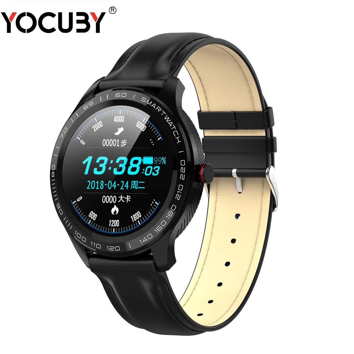 YOCUBY L9 Smart Watch Men ECG PPG HRV Report Heart Rate Sleeping Monitor IP68 Waterproof Step Fitness Tracker Sports Watch PK L7