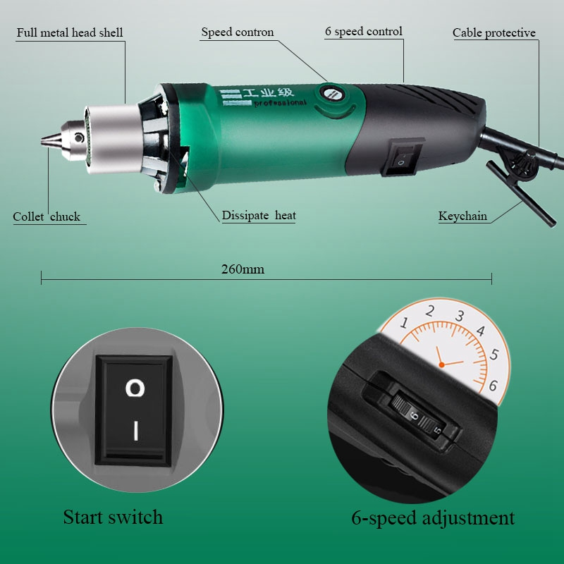 Drill Engraver Electric 480W 220V Dremel Variable Mini Drilling For Dremel Polishing  With Metalworking Machine Speed 6