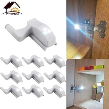 20Pcs Myhomera LED Light Cabinet Hinge Wardrobe Sensor Touch Lamp Night Lights Under Sink Inner Cupboard Powersave Bulb Lighting