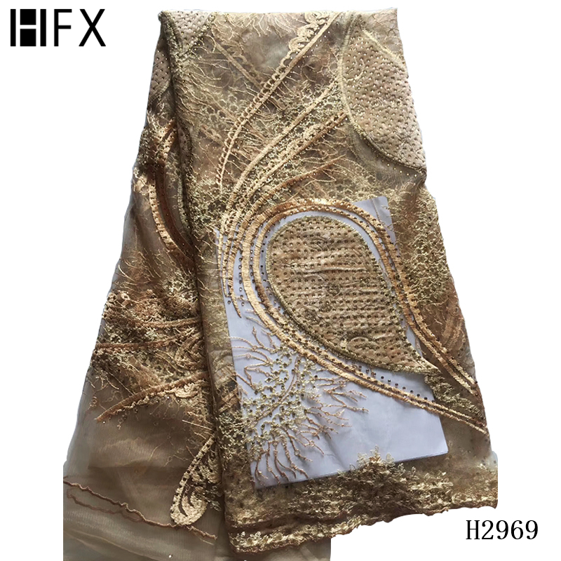 French Lace Fabric african lace fabric 2019 high quality  African Tulle Mesh Lace Fabric Nigeria fabric for wedding party X2969