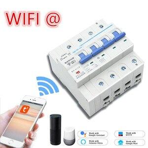 4P WiFi умный автоматический выключатель с функцией мониторинга энергии и счетчика для Amazon Alexa и Google home