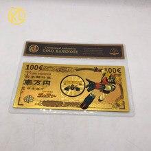 1 шт. UFO робот Grendizer Goldorak аниме 100 евро сувенир Золотая банкнота Золотая Банкнота с COA рамкой для сбора банкнот