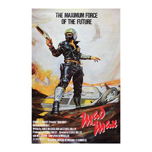 Cartel de seda de la película clásica de Mad Max 1979 años de antigüedad cartel de arte de la pared de la película Mel Gibson tela Vintage imprime la decoración del hogar de la habitación del hombre