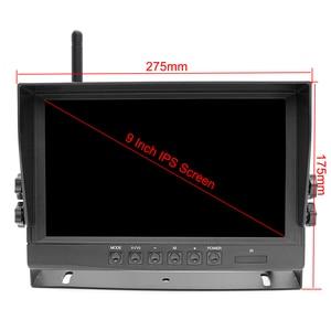 Image 2 - 2020 업데이트 디지털 무선 백업 DVR 기록 카메라 및 트럭/트레일러/버스/RV/픽업/트레일러 용 4CH 9 인치 AHD 모니터 키트
