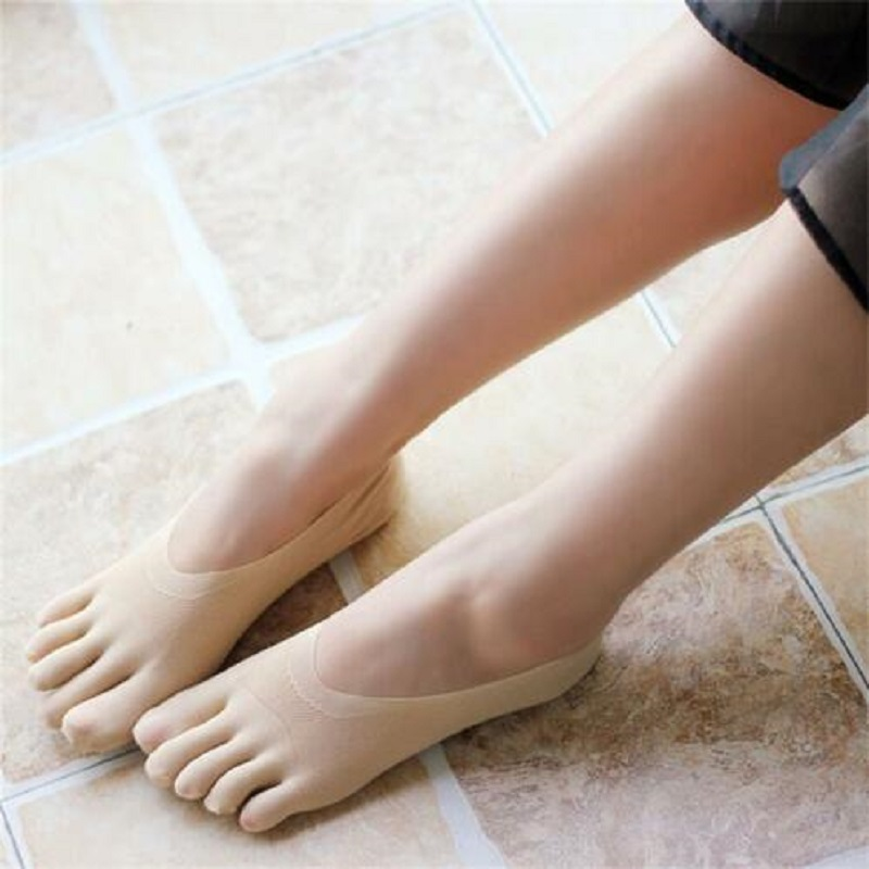 Women NEW Solid Seamless Low Cut Crew Ankle Five Finger Toe Boat Sock Hot/';
