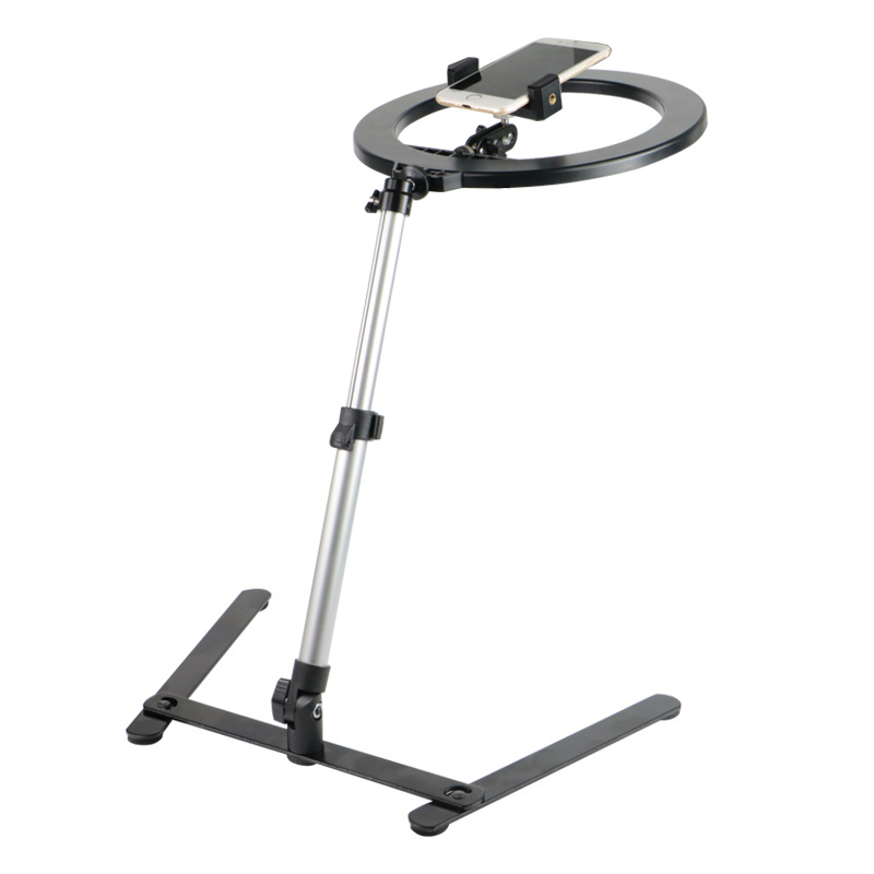 Phone Stand Camera Holder  Mobile Cell Phone Overhead Stand Desktop Photo Photography Multi-function Video Tripod Ring Light