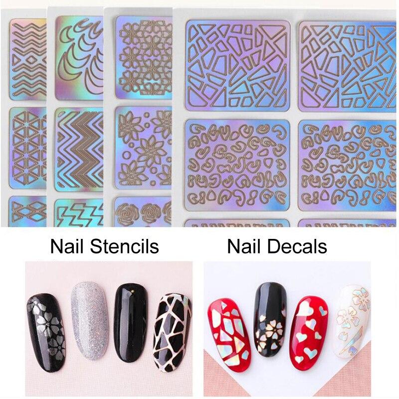 Hollow Nail Stencil Sticker
