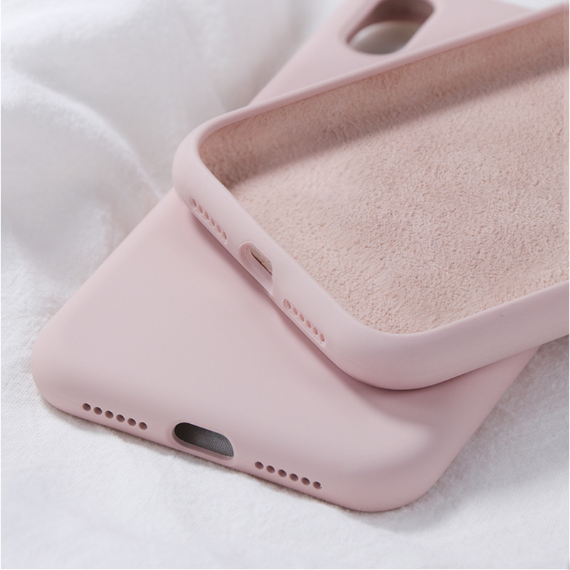 Soft Liquid Silicone Case For Samsung <font><b>Galaxy</b></font> Note 10 9 <font><b>8</b></font> A30 A20 A50 A70 A10 M10 M20 M30 J4 J6 J8 A6 A7 A9 <font><b>2018</b></font> S8 S9 S10 Plus image