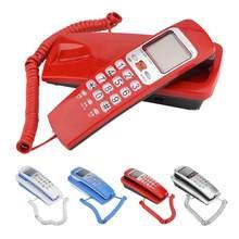 Teléfono de montaje en pared FSK/DTMF, Mini teléfono portátil con identificación de llamadas, extensión de teléfono fijo para casa, familia, Hotel, teléfono fijo para casa