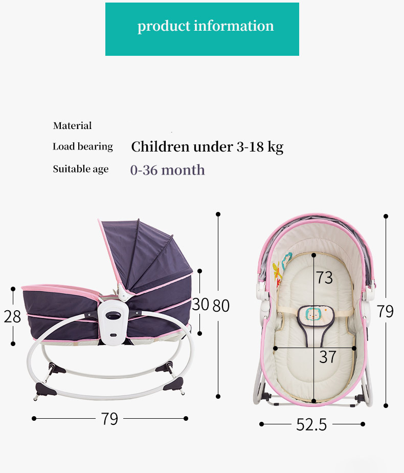 H1678b68401854759bfad6228ce411719X Baby electric baby cradle vibration crib in bed rocking chair can do shaker recliner basket three functions optional