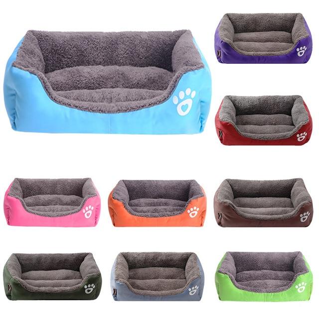 (S-3XL) Large Pet Cat Dog Bed 8Colors Warm Cozy Dog House Soft Fleece Nest Dog Baskets Mat Autumn Winter Waterproof Kennel 6